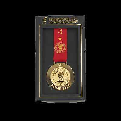 Liverpool FC  LFC Rome 77 Medal Official