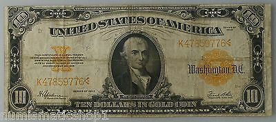 1922 $10 Large Size Gold Certificate, Speelman/White Signed Note