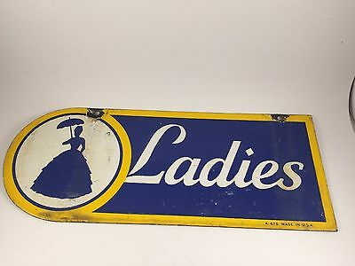 porcelain sign,southern belle sunoco ladies room sign,1940's