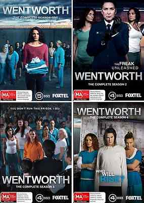 WENTWORTH : Complete Season 1, 2, 3 & 4 : NEW DVD