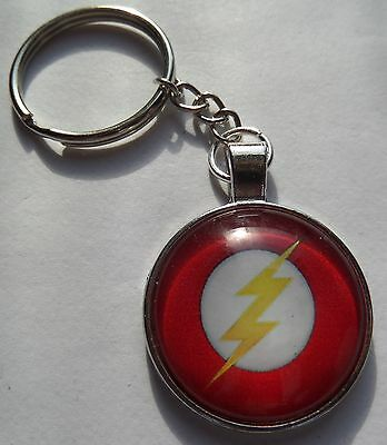 the flash barry allen logo figure keyring charm bag zip