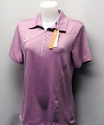 New Ladies Spanner Inspired Active Style Golf short sleeve polo shirt top MEDIUM