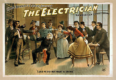Photo Print Vintage Poster: Stage Theatre Flyer The Electrician 05