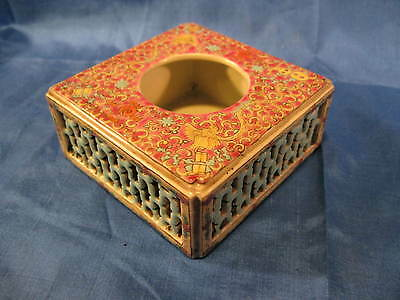 Chinese Porcelain Famille Rose Reticulated Brush Washer Dauguang Mark
