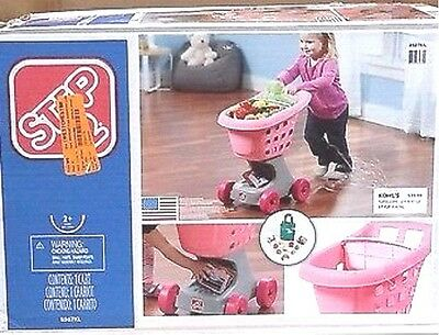 Step 2 Pink Little Helper's Shopping Cart, Bag & Play Food Items- New In Box