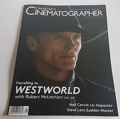 Westworld 2016 HBO Ed Harris Magazine Cover RARE Industry Magazine See Pictures