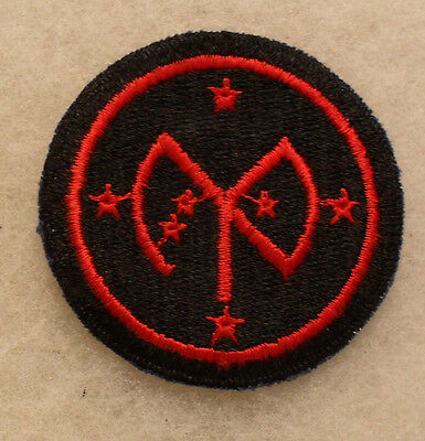 Wwii 27Th Infantry Division Embroidered Cut Edge