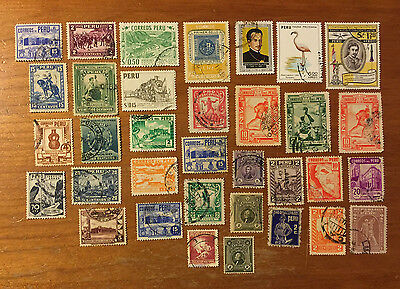 Peru - 34 Assorted Postage Stamps