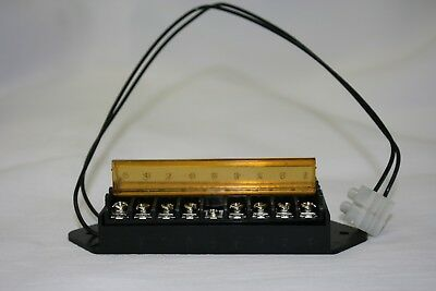 2PCS 8 Way Terminal Block Bus Bar,Splits 1 Input to 8 Out