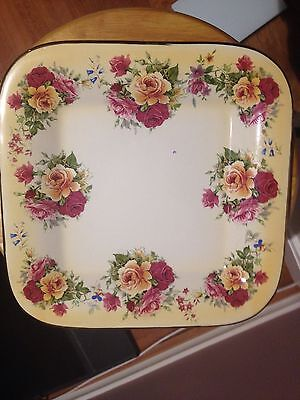 Robert Gordon Plate Yellow With Roses