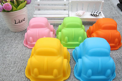1PCS Beetle Car Muffin Cake Mold Jelly Pudding Mould DIY Tool Silicone Bakeware
