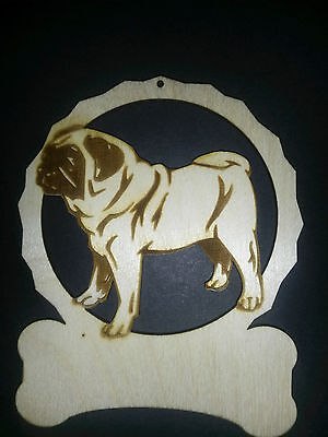 Personalized Pug dog ornament