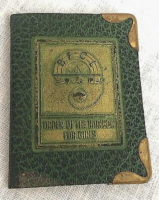 Order of the Rainbow Girls Leather Tiling Membership Card Holder