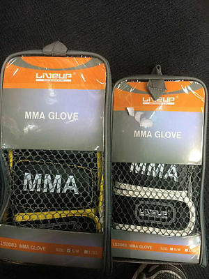 5 x MMA GLOVES - Size S/M - Black Yellow