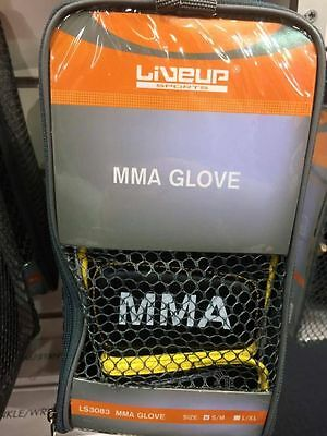2 X MMA GLOVES - Black and Yellow - Size S/M