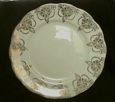 Royal Albert Green Bone China Saucers and Tea Plates