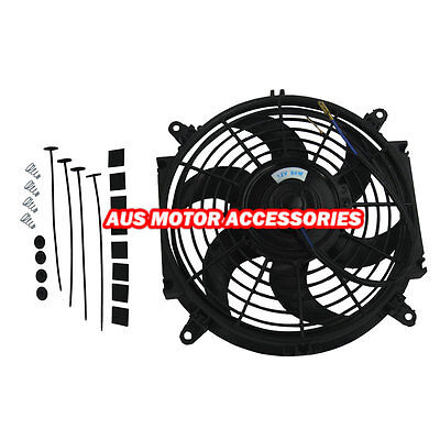 """Great 10"""" inch 12V volt Push Pull Electric Cooling Fan Thermo Fan +Mounting kits"""