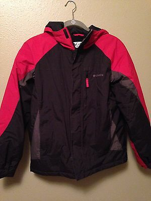 Columbia boys winter jacket coat size 18/20 red
