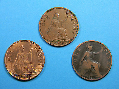 Old Large Penny 3 coin lot