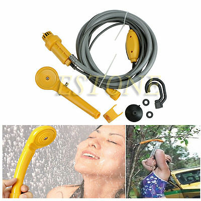 Portable Outdoor Electric 12V Car Plug Camper Caravan Van Camping Travel Shower