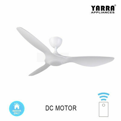52'' White Black Modern Ceiling Fan DC Motor with Remote Control