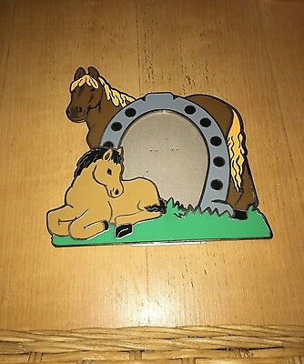 Horse Picture Frame Metal Approx 6 X 7 Inches Sturdy