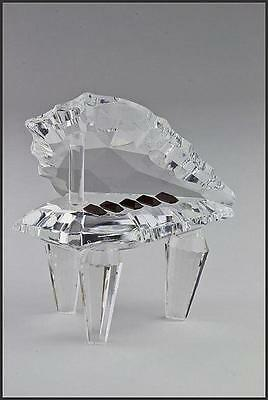 Crystal Baby Grand Piano Figurine with Black Keys Ex Display - Gift Boxed + CD