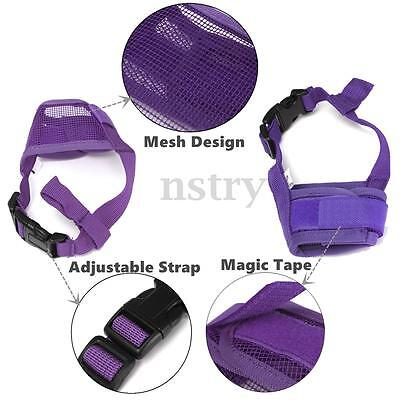 New Adjustable Dog Mesh Muzzle Breathable Pet Mouth Mask Anti Chewing Barking