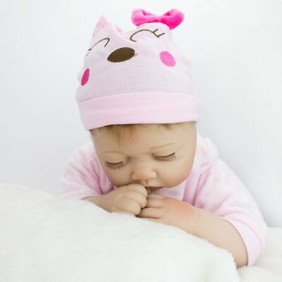 Realistic Reborn Baby Doll Lifelike Newborn Sleeping Baby Girl Doll Floppy Head