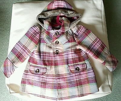 Girls winter coat 3-4 years M&Co Good Condition