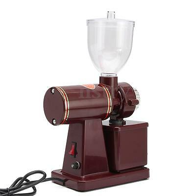 220V 100W Electric Conical Espresso Coffee Bean Grinder Coarse Fine Grinding Red