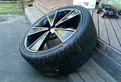 Alloy Rims & Tyres x 4 - Suit Commodore