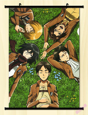 Home Decor Japan Wall poster Scroll Attack Armored Titan Titan Cosplay Gift #8
