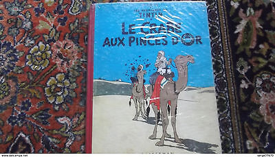 TINTIN le crabe aux pinces d'or 1954 B 11 HERGE Milou Haddock Dupont opium