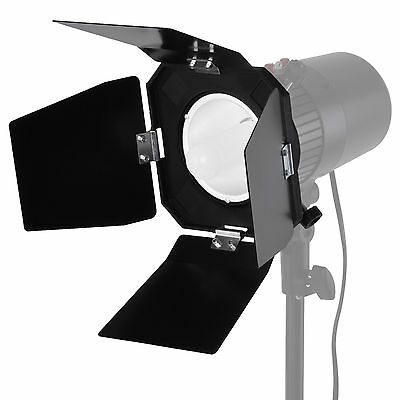 Neewer Black Barn Door Barndoor for Photography Studio Flash Light
