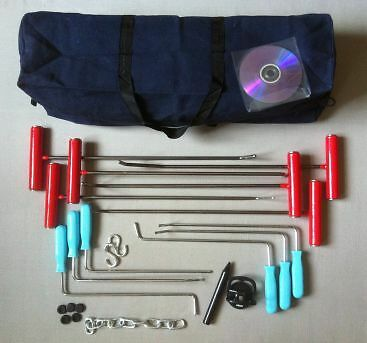 Paintless dent removal set PDR car repair smart tools for dings & dents rods