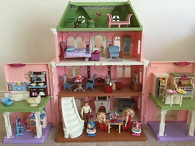 Fisher Price Loving Family Grand Dollhouse, Furniture, Dolls And Accessories
