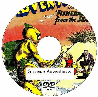 Strange Adventures Comic Collection 244 Issues from 1950 - 1973 on 2 DVDs