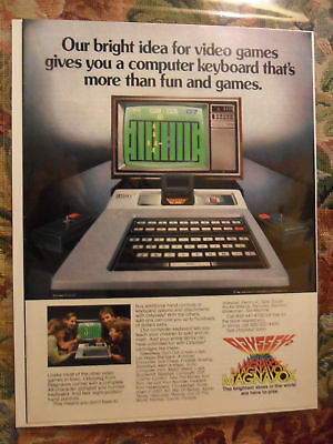 1980 Print Ad Magnavox Odyssey 2 Video Game Computer System