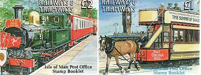 IOM Isle of Man Manx 1992 £2 and £1 Stamp Booklet Railways & Tramways