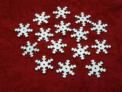 100 Pcs Snowflake Christmas Winter Sequins Card Scrapbooking Sewing Decorations