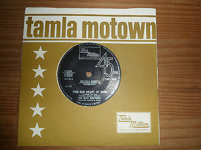 """TMG 555 ISLEY BROTHERS THIS OLD HEART OF MINE THERES NO 7"""" 45rpm TAMLA YO4"""