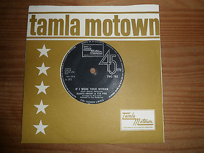 """TMG 765 GLADYS KNIGHT & PIPS IF I WERE YOUR WOMAN  THE TRA 7"""" 45rpm TAMLA MO Y52"""