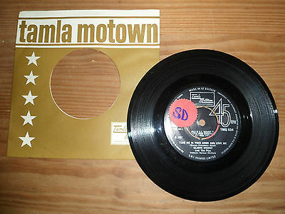 """TMG 604 GLADYS KNIGHT & PIPS TAKE ME IN YOUR ARMS & LOVE M 7"""" 45rpm TAMLA MOTOWN"""
