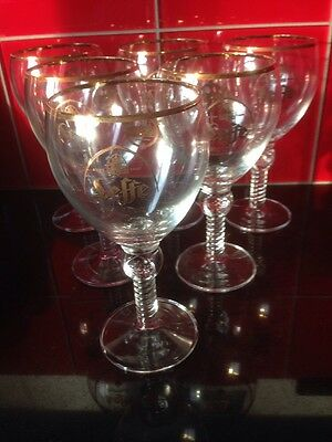 Lot De 6 Verres A Biere Leffe Royale , Type Calice , 33 Cl