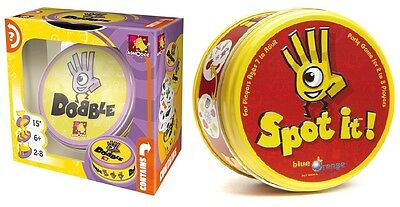 SPOT IT! or DOBBLE Card Game Brand new! FAST PACED! SIMULTANEOUS PLAY! LAUGHTER