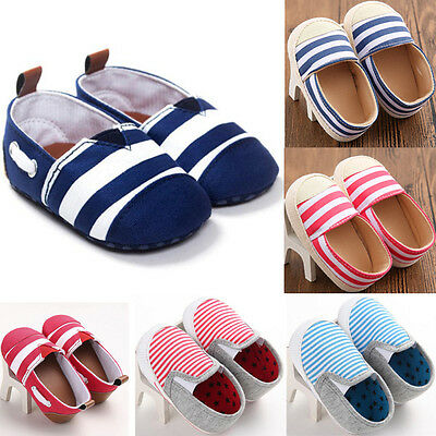 Baby Newborn Boys Girls Soft Crib Shoes Anti-slip Christening Prewalker Sneakers
