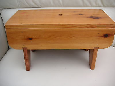 sturdy  Wooden Pine Footstool. / stool