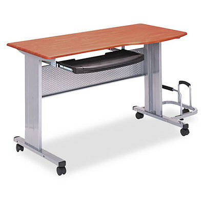 Mayline Eastwinds Mobile Work Table, 57w x 23-1/2d x 29h, Medium Cherry