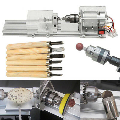 Mini Lathe Beads Polisher Machine 24V 80W for Woodworking Wood DIY Rotary Tool
